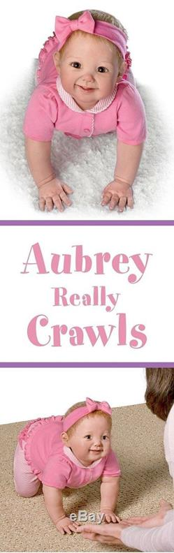 0302272001 Ashton Drake AUBREY'S CRAWLING Interactive baby doll by Ping Lau