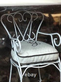 16 Ashton Drake Gene Accessories Patio Set White Chairs & Table Set MINT
