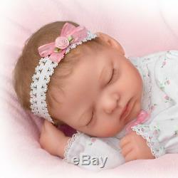 16'' Poseable Snuggle Close Sadie Lifelike Baby Doll by Ashton Drake new
