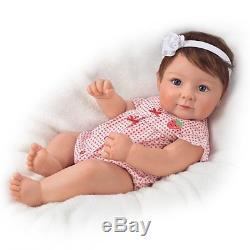 17'' Ava Elise Lifelike Baby Doll by Ashton Drake, New