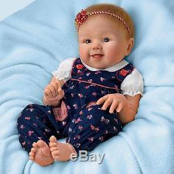 17 Sandy Faber Lifelike Poseable Baby Doll Apple Dumpling by Ashton-Drake
