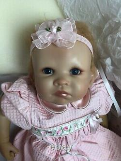 18 Ashton Drake Baby Girl Vinyl Doll Little Rose Petal Adorable MINT In Box
