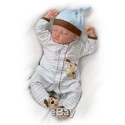 19'' Sweet Dreams Danny Sleeping Baby Boy Doll by Ashton Drake New NRFB