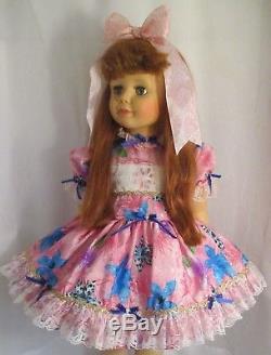 1980's Ashton Drake 35 Patti Playpal Doll, Auburn Hair, Blue Grey Eyes