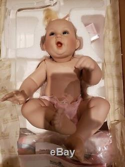 1996 ASHTON Drake SPECIAL DELIVERY Baby doll in Hanging Basket LE all bisque vtg