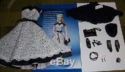2005 Ashton Drake GENE Star Wardrobe black and white dress