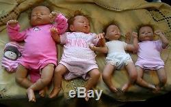 4 ASHTON DRAKE BABY DOLLS Breathing Donna Lee Preemie Linda Murray Violet Parker