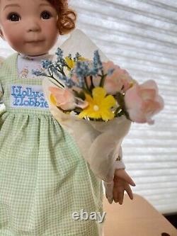 A Holly Hobbie Spring Porcelain 15 Doll by Dianna Effner #92067