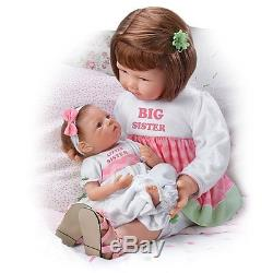 A Sister's Love Child And Baby Poseable Vinyl Doll Set by Ashton-Drake Galleries