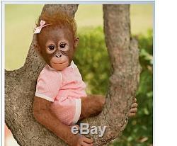 ASHTON DRAKE Annabelle's Hug Lifelike Baby MONKEY Doll NEW