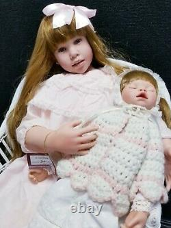 ASHTON DRAKE Julie Fisher Doll Sweet Joys of Sisters with Chair 30 Tall