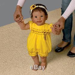 ASHTON DRAKE KIARAS FIRST STEPS BABY DOLL BY LINDA MURRAY 26 TALL WALKS