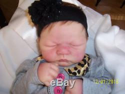 ASHTON DRAKE Linda Webb Reborn Sweet Dreams Emily Doll Breathing RARE HTF