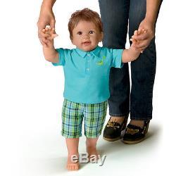 Ashton Drake Masons First Steps Baby Doll By Linda Murray