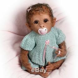 ASHTON DRAKE So Truly Real CLEMENTINE Needs A Cuddle Baby MONKEY Doll NEW