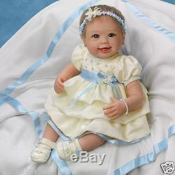 ASHTON DRAKE So Truly Real PRECIOUS IN PEARLS BABY DOLL- FREE S&H