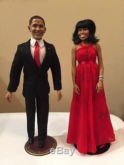 ASHTON DRAKE TALKING PRESIDENT BARACK OBAMA And Michelle Obama DOLL Set