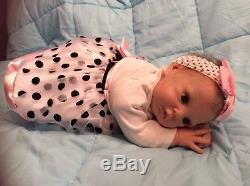 Adrie Stoete Sculpt Lola Hand Painted & Rooted Hair Reborn Doll. Used. E