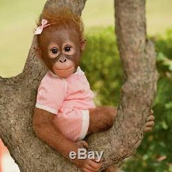 Annabelle's Hugs Ashton Drake Baby Monkey Doll By Ina Volprich 22 Inch NEW Gift