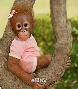 Annabelle's Hugs Ashton Drake Baby Monkey Doll By Ina Volprich 22 Inches