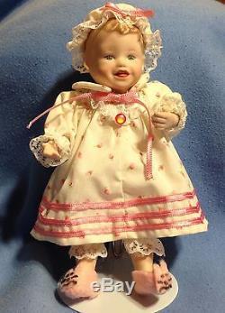 Ashton Drake 11x Picture Perfect Babies Mini-Dolls Wooden Display Case Lot Set