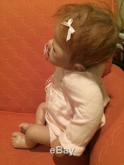 Ashton Drake A. D. G. 04 Lifelike Newborn Baby Girl Doll Blue eyes, reddish hair