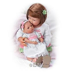 Ashton Drake A Sister's Love Poseable Baby Doll Set by Waltraud Hanl
