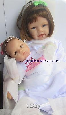 Ashton Drake A Sister's Love Poseable Baby Doll Set by Waltraud Hanl
