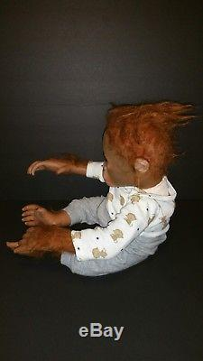 Ashton Drake ANNABELLE HUGS Monkey Baby Doll Ina Volprich Orangutan