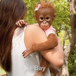 Ashton Drake ANNABELLE HUGS monkey baby doll by Ina Volprich