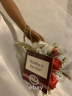 Ashton Drake African American porcelain bride doll Wedding in New York