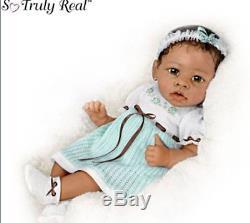Ashton Drake Alicias Gentle Touch Interactive Lifelike Baby Doll
