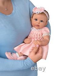 Ashton Drake All Dolled Up Olivia Lifelike Silicone Baby Doll by Linda Murray