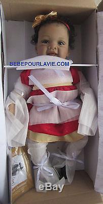 Ashton Drake BABY'S FIRST CHRISTMAS Baby Girl Doll By Waltraud Hanl
