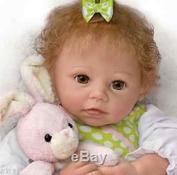 Ashton Drake Baby Doll NAPTIME AMELIA Poseable Interactive Plush Rabbitt