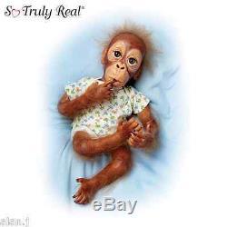 Ashton Drake Baby Orangutan monkey Doll Pongo' Poseable