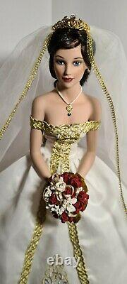Ashton Drake Beautiful Porcelain Bride Doll With Stand Doll By Sandra Bilotto