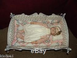 Ashton Drake Bello BeBe Wooden Doll Cradle