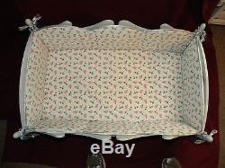Ashton Drake Bello BeBe Wooden Doll Cradle 29L x 18.5W x 13H