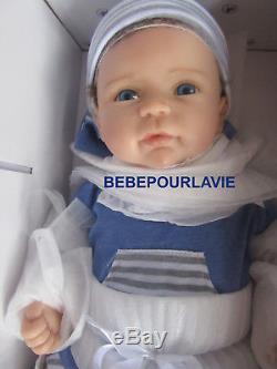 Ashton Drake Caleb Lifelike Silicone Baby Boy Doll by Linda Murray
