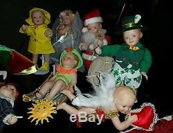 Ashton Drake Calendar Babies Complete Set of 12 Doll Months and Calendar