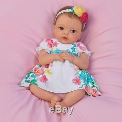 Ashton Drake Cheryl Hill Pretty Petite Presley TrueTouch Silicone Lifelike Doll