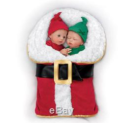 Ashton Drake Christmas Twin Baby Doll Set By Donna Lee NICK AND NOELLE
