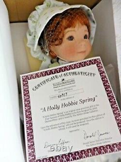 Ashton Drake / Dianna Effner Porcelain & Cloth A Holly Hobbie Spring With Coa