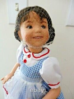 Ashton Drake / Dianna Effner Porcelain & Cloth Dorothy With Stand Toto & Coa