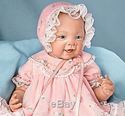 Ashton Drake Doll, Pretty in Pink, 21 inch, RealTouch vinyl, NEW