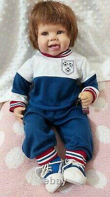 Ashton Drake Doll Ryan, the little Champ. Retired Sculpt with C. O. A