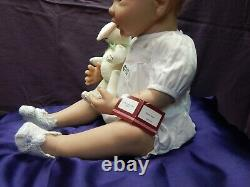 Ashton Drake Doll so truly Real Bunny Hugs COA (Retired) (#102) Gently Used
