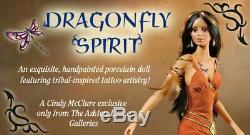 Ashton Drake Dragonfly Spirit Native American Fine Porcelain Doll Cindy McClure