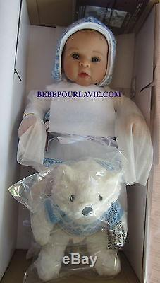 Ashton Drake ESKIMO KISSES Baby Doll With Touch-Activated Bear by Sherry Rawn